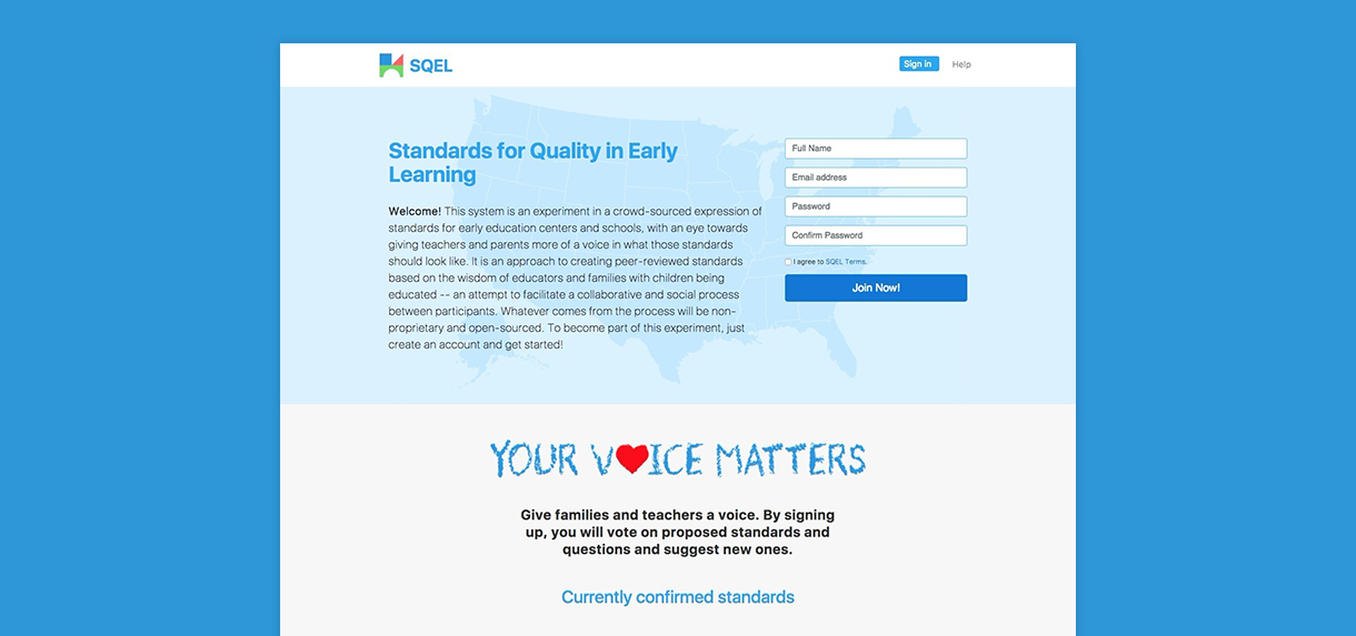 SQEL - Standards for Quality in Early Learning